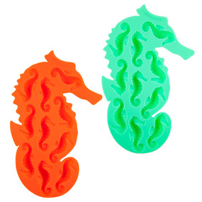 Seahorse Ice trays 2 set- green and orange
