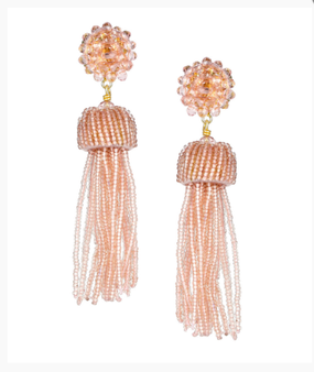 Tassel Earrings | Clear Pink