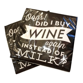 Did I Buy Wine? Napkins  (Set of Two)