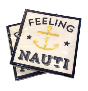 Gold Feeling Nauti Napkins (Set of Two)