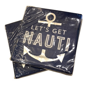 Silver Feeling Nauti Napkins (Set of Two)