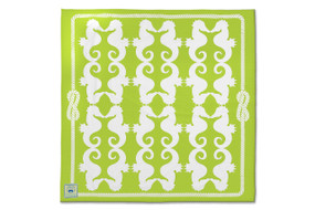 Key Lime Seahorses Beach Sheet