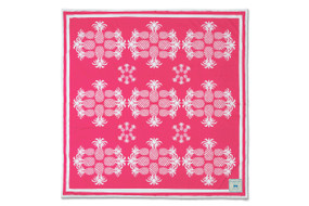 Pink Flamingo Pineapples Beach Sheet