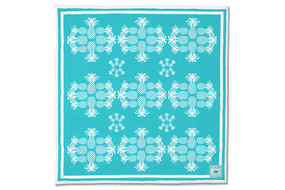 Caribbean Blue Pineapples Beach Sheet