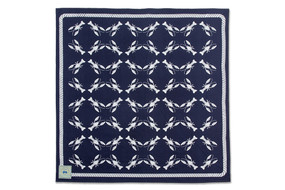 Midnight Blue Lobsters Beach Sheet