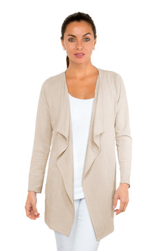 Gretchen Scott Waterfall Suede Cardigan Latte