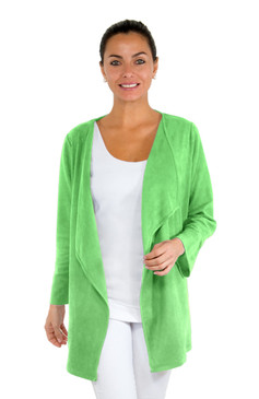 Gretchen Scott Waterfall Suede Cardigan Green