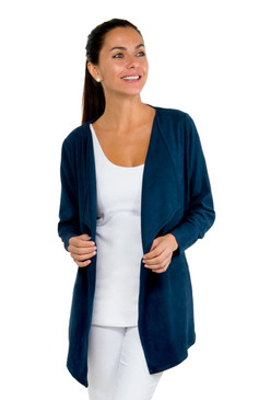 Gretchen Scott Waterfall Suede Cardigan Navy