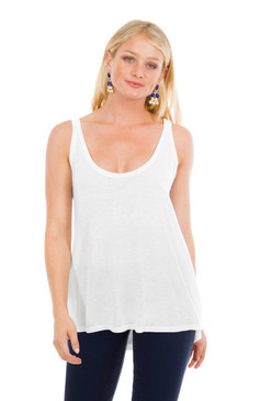 Gretchen Scott Cashmere Swing Tank White