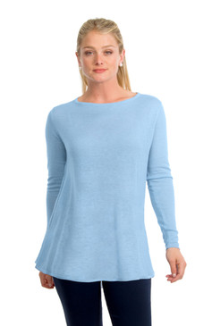 Gretchen Scott Cashmere Swing Sweater Light Blue