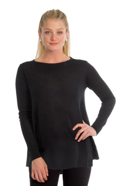 Gretchen Scott Cashmere Swing Sweater Black