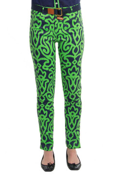 Gretchen Scott Gripe Less Jeans Arabesque Green/Navy