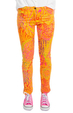 Gretchen Scott Gripe Less Jeans Grand Bazaar Coral