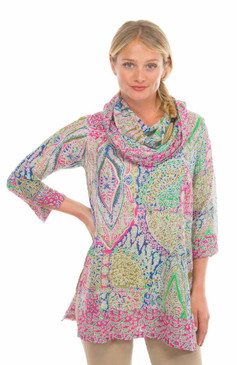 Gretchen Scott Voile Funnel Tunic Grand Bazaar