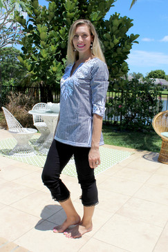 Gretchen Scott Gingham Reef Tunic Black