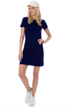 Carter Solid Ponte Dress | Navy |  Persifor