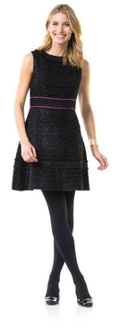Black Peppermint Fit-and-Flare Dress