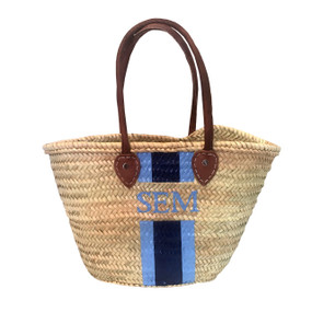 Create Your Own Personalized Hand Painted Straw Shoulder Tote