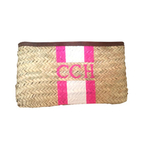 Create Your Own Monogram Hand-Painted Straw Clutch