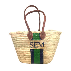 Create Your Own Personalized Hand-Painted Straw Shoulder Tote