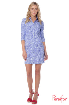 Winpenny Dress | Spot in Indigo |  Persifor