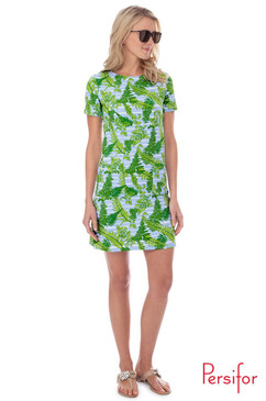 Carter Dress  |  Provence Palms in Fern Green |  Persifor