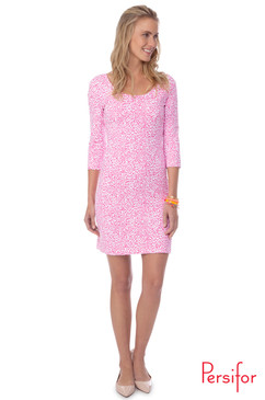 Kilpatrick Dress  | Spot in Flamingo | Persifor
