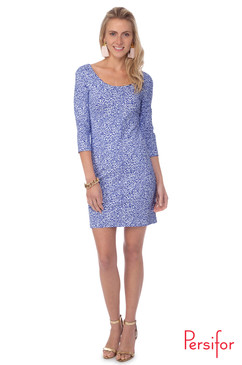 Kilpatrick Dress  | Spot in Indigo | Persifor
