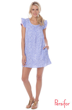 Clare Dress | Spot in Indigo | Persifor