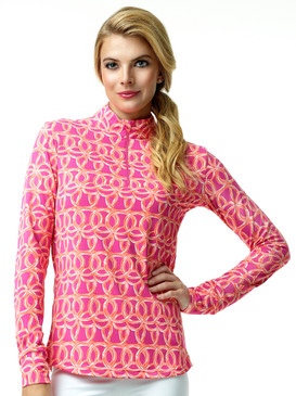 Ibkuls Long Sleeve Cooling Mock Neck Top | Shilia Pink