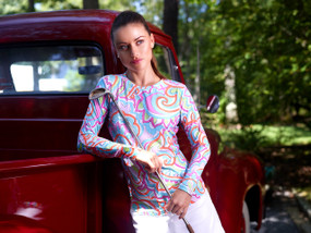 Ibkul Long Sleeve Cooling Tee | Ariana Multi