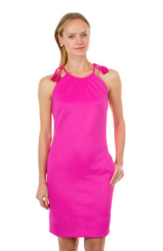 Gretchen Scott Tassel Tie Dress Pink