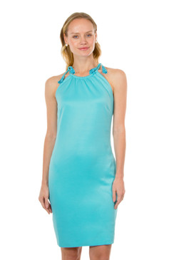 Gretchen Scott Tassel Tie Dress Turquoise