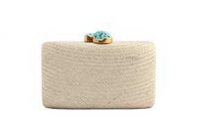 Jen Clutch with Turquoise Stone   Toast