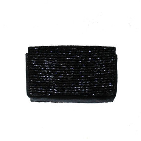 Open @ Your Own Risk | Black & Pink Beaded Cardholder