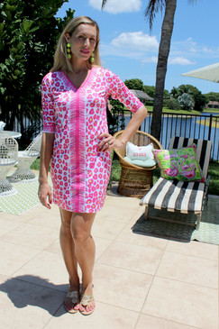 Gretchen Scott Bordertown Wildcat Dress Pink