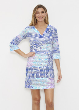 Before & Again | Banded Coverup Dress | Tidal Stripe
