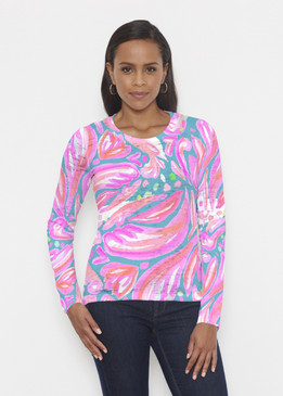 Before & Again | Crew Neck Long Sleeve | Fiona Pink