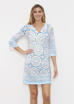 Before & Again | Banded Coverup Dress | Luso-Moroccan Aqua
