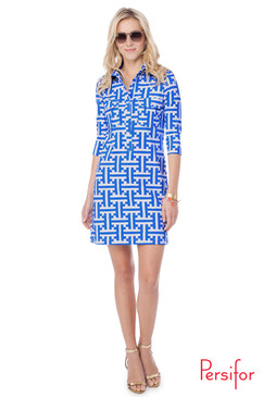 Winpenny Dress | Tile in Calypso |  Persifor
