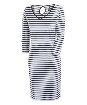 Saint James | Pamiers Dress | Navy & White Stripe