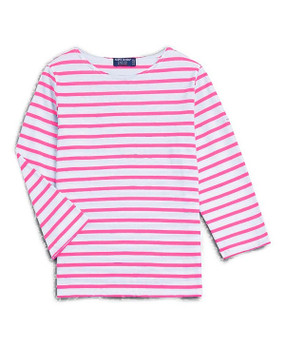 Saint James | Galathee Top | Pink & White Stripe