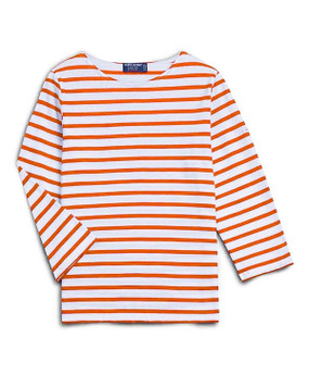 Saint James | Galathee Top | Orange & White Stripe