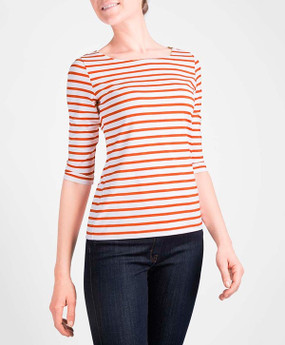 Saint James | Garde Cote Top | Orange & White Stripe