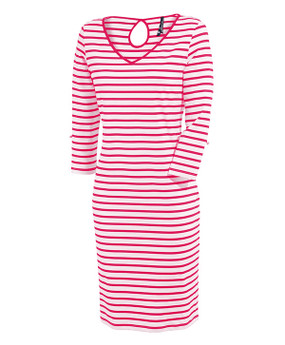 Saint James | Pamiers Dress | Raspberry & White Stripe