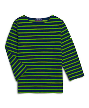 Saint James | Galathee Top | Navy & Lime Stripe