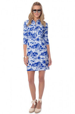 Winpenny Dress | Riviera in Capri Blue |  Persifor