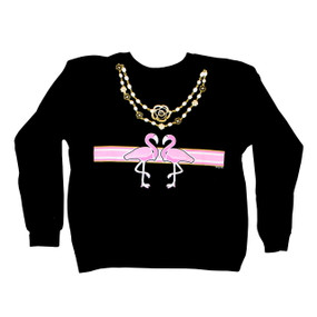 Flamingo-A-Gucci Sparkling Black Sweatshirt
