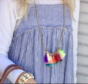 Double Strand Tassel Necklace