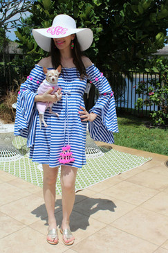Sundress | Anita Stripe Dress | Blue & Pink